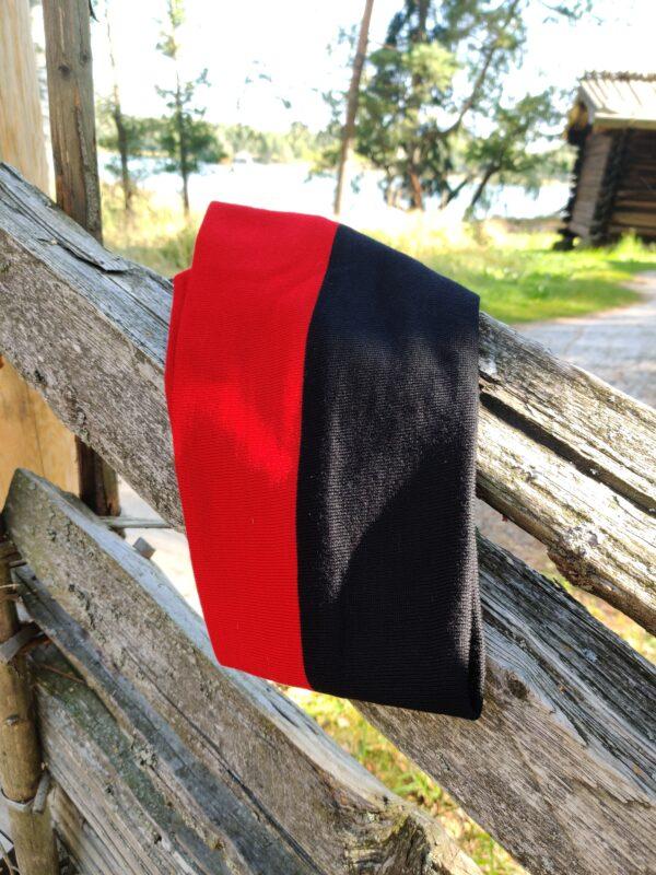 Tuubihuivi, kaksivärinen, musta-punainen