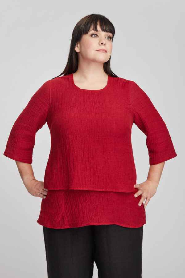Kivi tunic, red