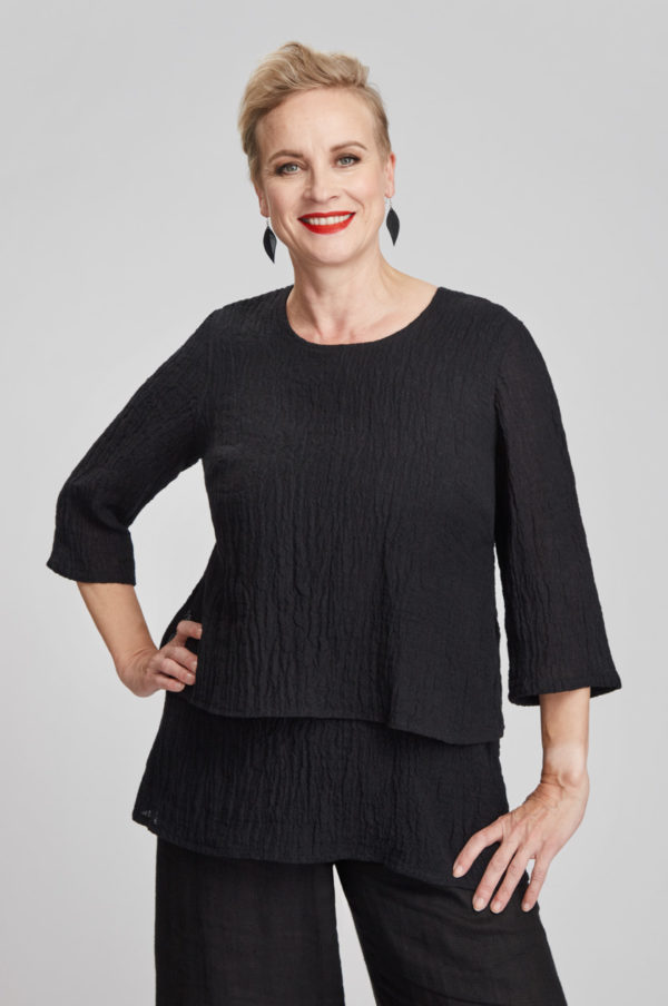 Kivi tunic, black