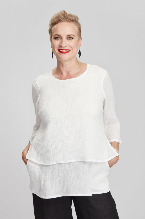 Kivi tunic, white
