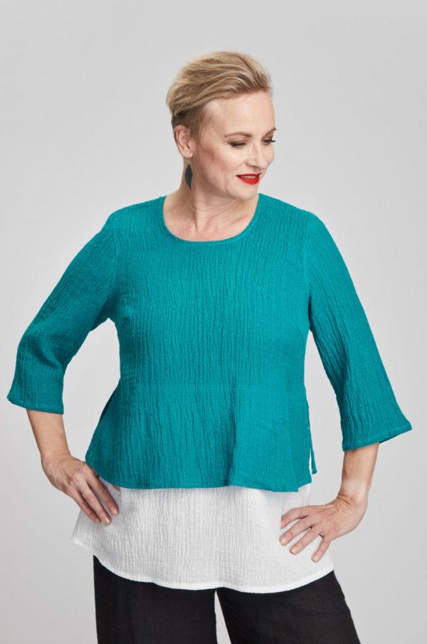 Kaisla tunic, turquoise