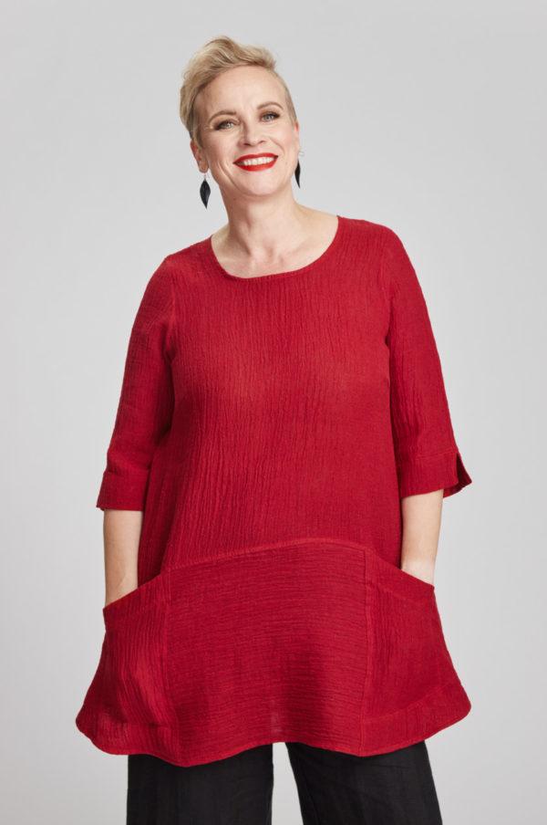 Selja tunic, red
