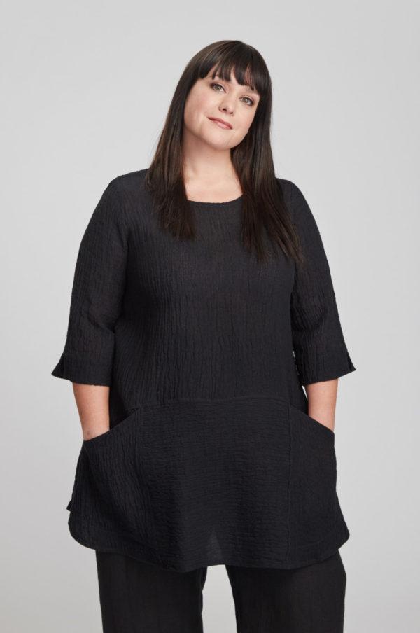 Selja tunic, black
