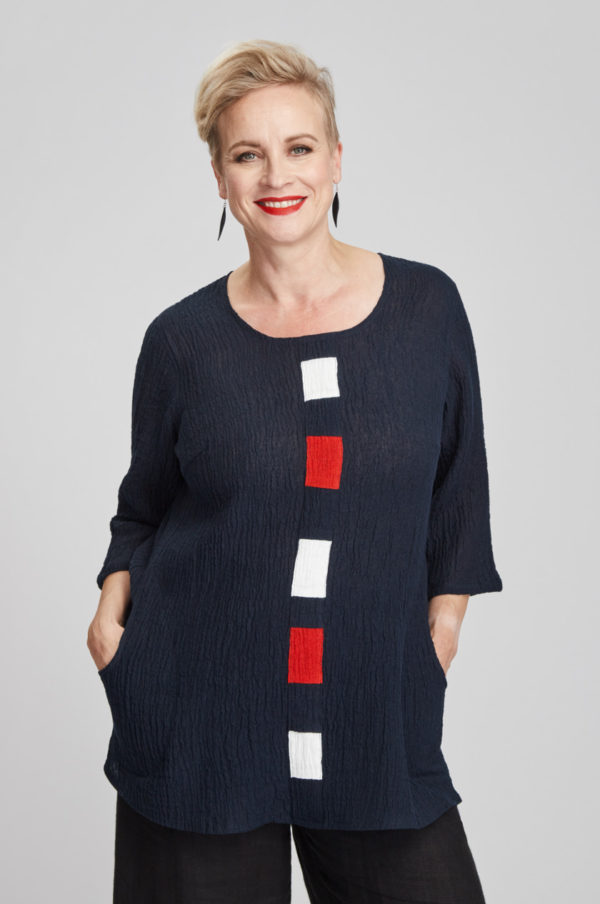 Hilla tunic, navy