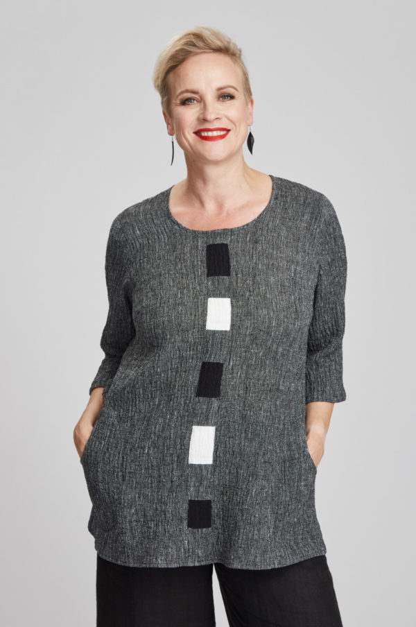 Hilla tunic, grey