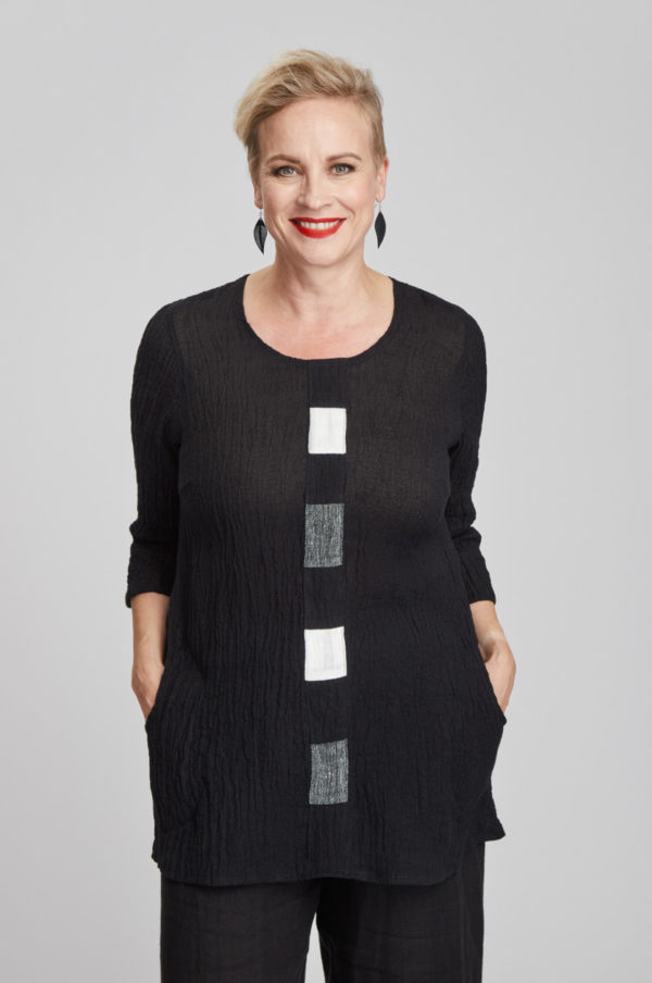 Hilla tunic, black