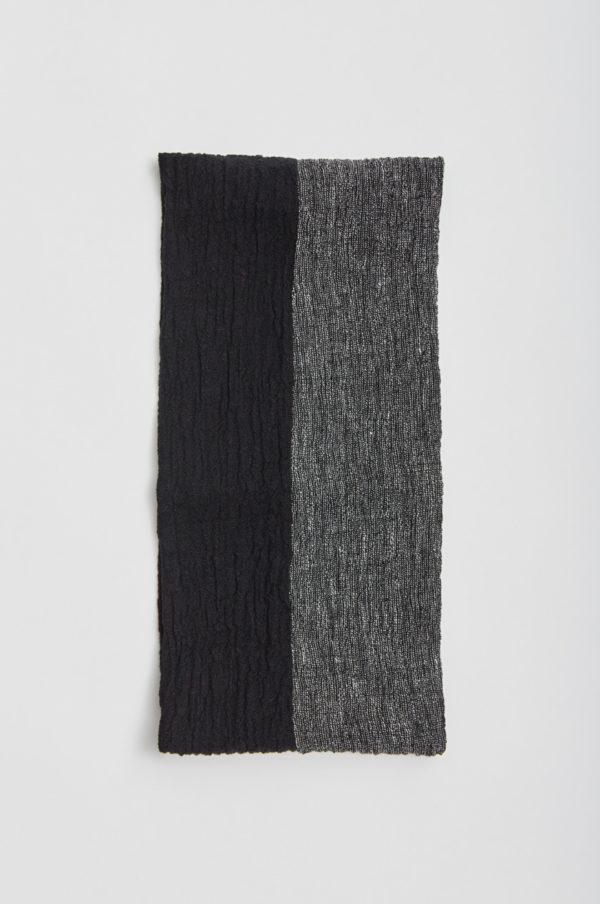 Tuubihiuvi, kaksivärinen, musta/harmaa