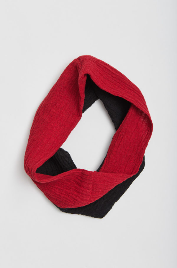 Tuubihiuvi, kaksivärinen, musta/punainen
