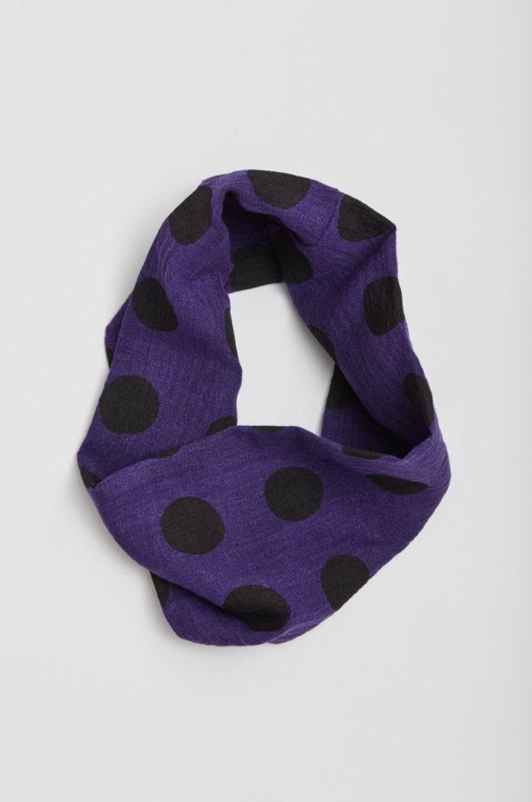 Tuubihuivi, pallollinen, violetti